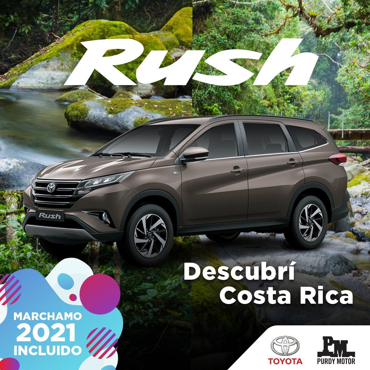 Llevate tu Toyota Rush con marchamo incluido y descubrí Costa Rica Toyoteando en burbuja.  Contactá un asesor por medio de nuestro Whatsapp: 8589-1000 o https://t.co/wEoya9MYKc  #toyota #rush https://t.co/xHbRVmj2q1