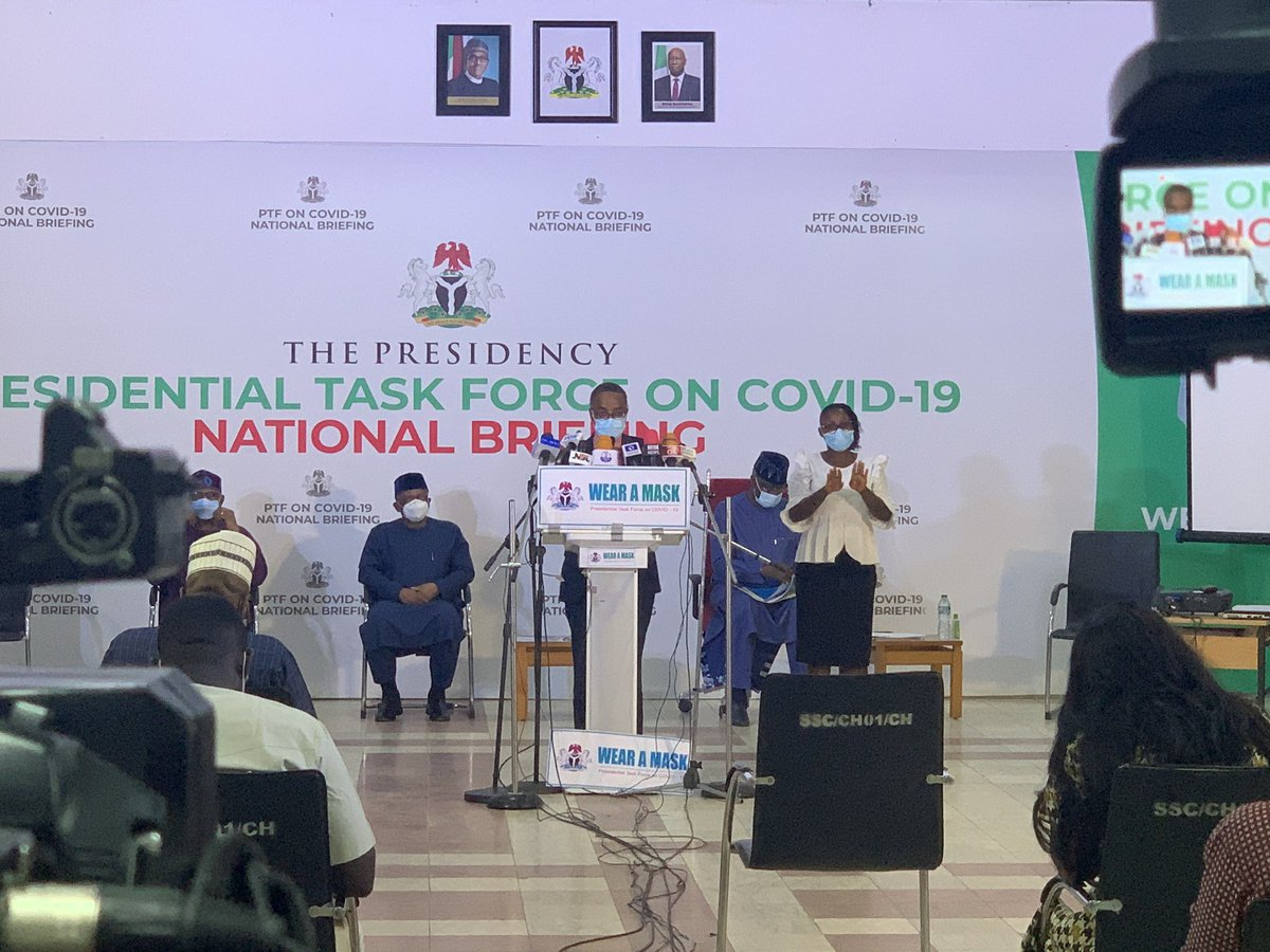 At today's briefing, @PTFCOVID19 Coordinator, @DrSaniAliyu spoke on the new phase of Nigeria's response to the pandemic. 'Our priority remains using data & science to inform decision making to improve the response efficiency, while emphasizing collective responsibility' twitter.com/OfficialOSGFNG…