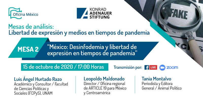 "[MESA DE ANÁLISIS] 👉""México: desinfodemia y libertad de expresión en tiempos de pandemia"" 🎙️🚫🦠  ▪️@LuisHuRRa  ▪️@tanlmont  ▪️@article19mex   Ver repetición: 🎥https://t.co/XNFSb1fOIB   #KASMéxico 🇩🇪🤝🇲🇽 #FakeNews #Desinfodemia https://t.co/o9oilP8qDy"