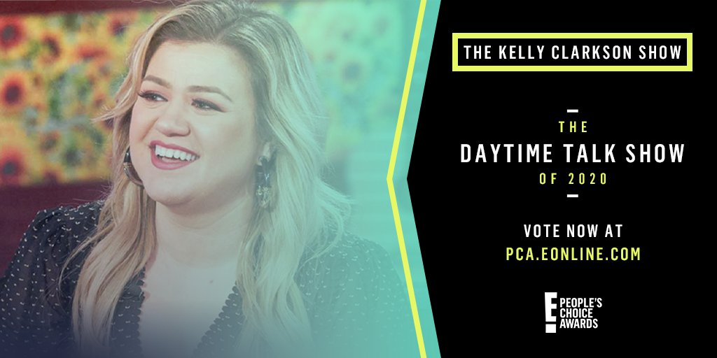 I'm so excited that @KellyClarksonTV is nominated for The Daytime Talk Show of 2020 at this year's @peopleschoice!! Y'all are the best fans!! RT this or send a tweet using #TheDaytimeTalkShow #TheKellyClarksonShow to vote. You can vote up to 25 times a day! #PCAs