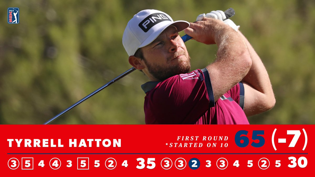 Replying to @PGATOUR: His best opening round on TOUR. 💪  @TyrrellHatton leads by one at Shadow Creek.