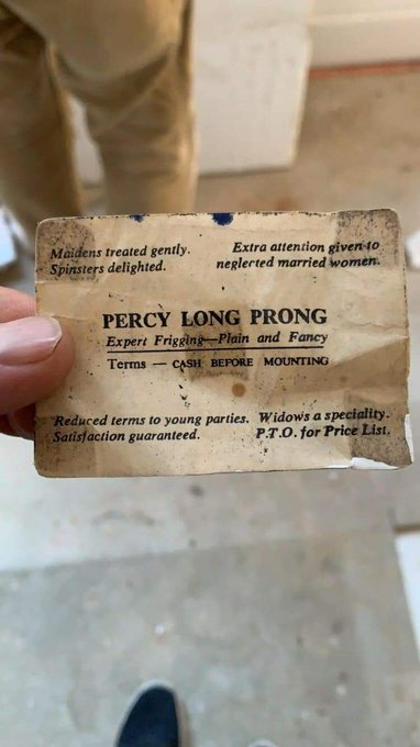 1 pic. God bless Percy Long Prong and all gigilos of yore https://t.co/HW8y5M1j4m