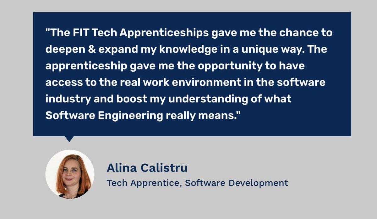 Calling all Women who want a career in Tech!  Read Alina's story: https://t.co/wXjyoiMCLw  We run a Female Tech Apprenticeship Programme focused on #softwaredevelopment   #femaletech #womenintech @apprenticesIrl