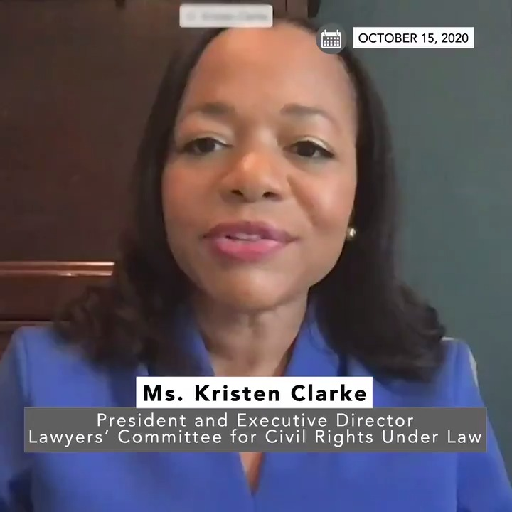 Our nation deserves a justice who is committed to protecting the hard-earned rights of all Americans, particularly our nations most vulnerable. —@KristenClarkeJD on why @LawyersComm opposes the nomination of Judge Barrett #WhatsAtStake