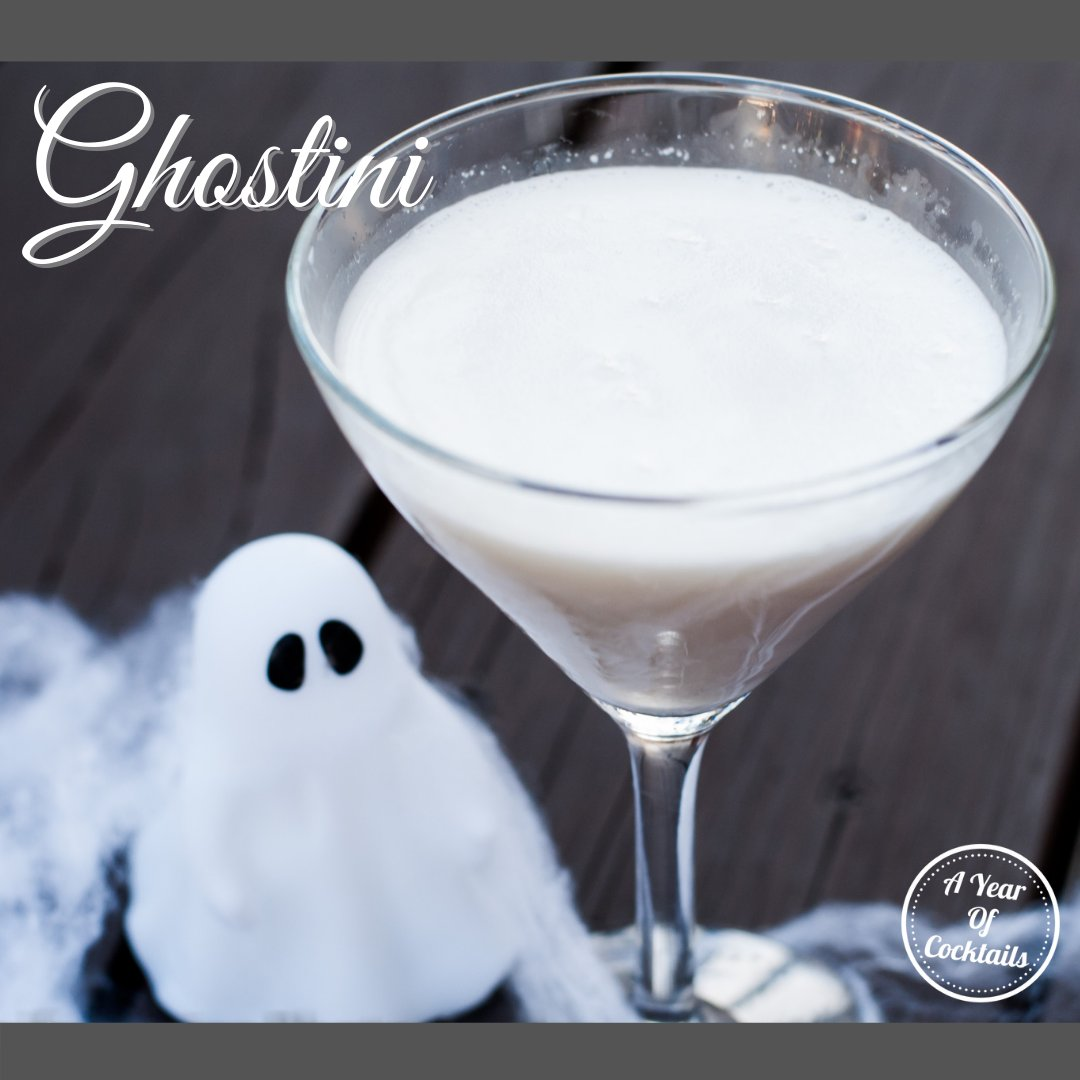 Ghostini is the perfect ghostly Halloween cocktail that is deliciously frightening.  You won't want just one!  https://t.co/xo1xtdKQJ8  #cocktail #cocktails #alcohol #recipe #yum #Halloween #October #ghost #martini #vanilla #whitechocolate https://t.co/ezKoiZxSKO