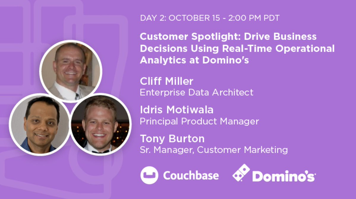 .@Domino's shares how they're delivering personalized marketing campaigns via #Couchbase Analytics at #CBConnectONLINE on Oct 15 at 2 pm PT.  https://t.co/5AZeTdZPZV https://t.co/niaotxboWu