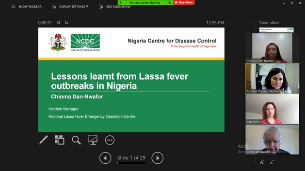 I am honoured to share lessons learned from Lassa fever outbreaks in Nigeria at the @RSTMH annual meeting. The Q and A session served as an opportunity to provide insights on #COVID19 response