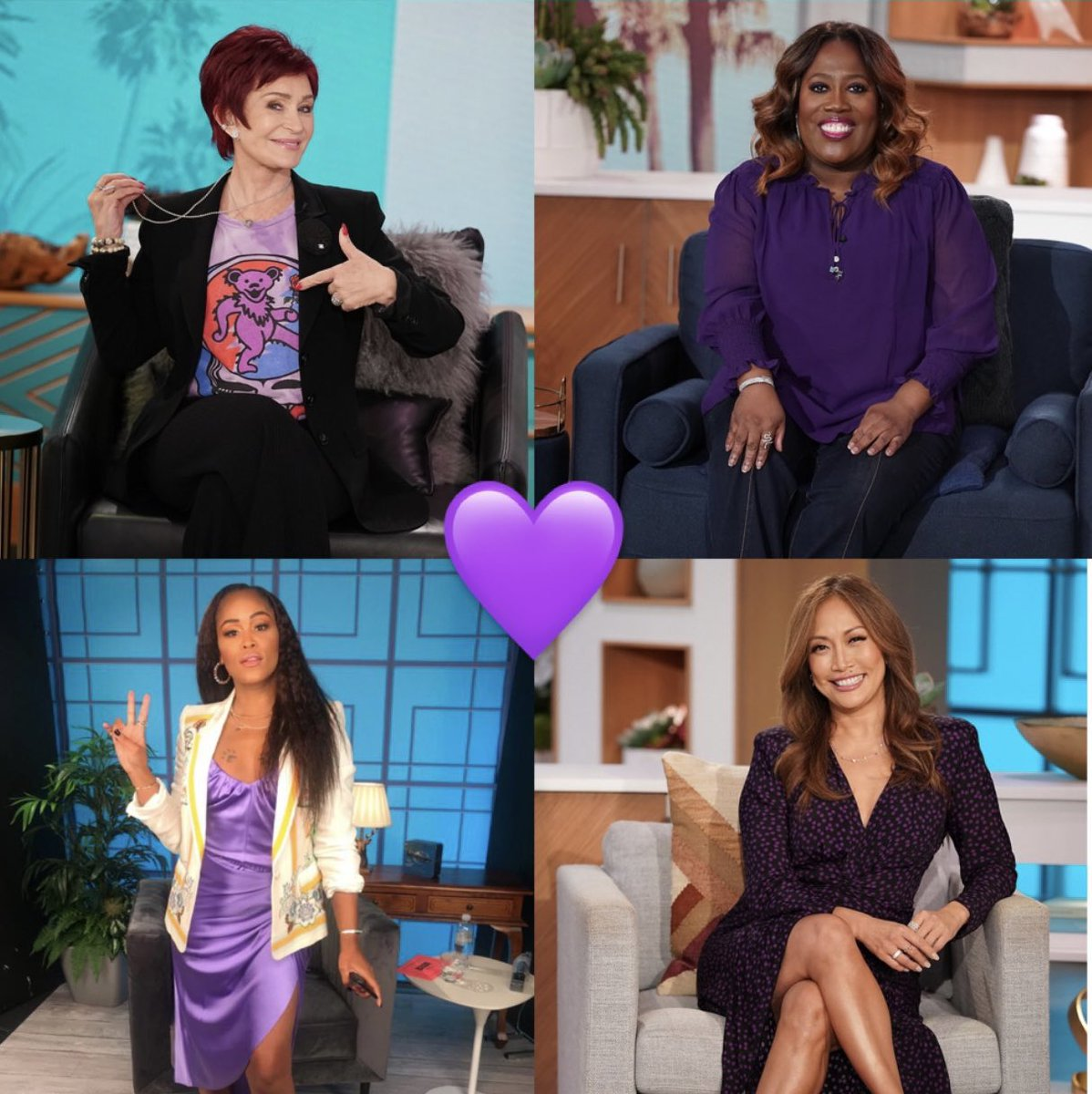 Our ladies are wearing purple in support of taking a stand against bullying for #SpiritDay! #TheTalk @glaad