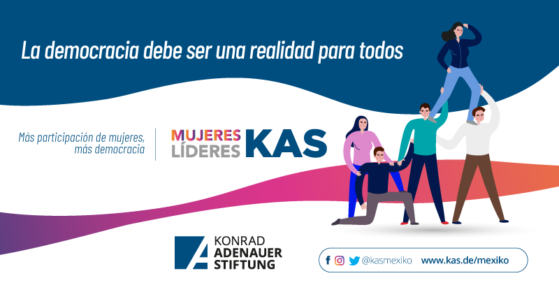 👉Si queremos una democracia plena y equitativa requerimos la participación de las mujeres. 🇲🇽🤝🧏♀️  ¡Más participación de las mujeres, más democracia! 🙋♀️ #MujeresLíderesKAS  #KASMéxico 🇩🇪🤝🇲🇽 #másymejordemocracia #DemocraciaYMujeres #KAS4Democracy https://t.co/7OBhBFzNwQ