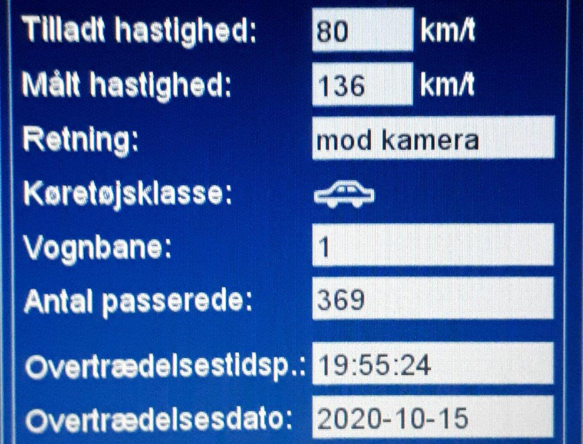 ATK har i aften målt på vores faste fokusstrækning Tinglevvej i Aabenraa kommune. Desværre måtte vi blitze 19 bilister som havde for travlt, 3 får også et klip. En enkelt bilist valgte at passere ATK vognen med hele 136km/t i 80zone, det koster en bet.frakendelse #atkdk #politidk https://t.co/tZ1dW7fstq