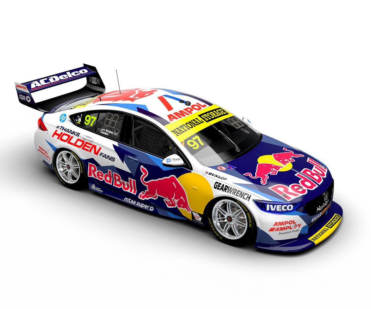 """❗️Tomorrow at around 15:00 BST (after F1 qualifying) I will be live recreating this Red Bull Holden V8 Supercars livery on GT Sport  Hit that """"Follow"""" button to not miss it ➡️ https://t.co/Ch2oF0WCso  #GraphicDesign #GraphicDesigner #GTSport #eSports #livery https://t.co/t1S7TF4oev"""