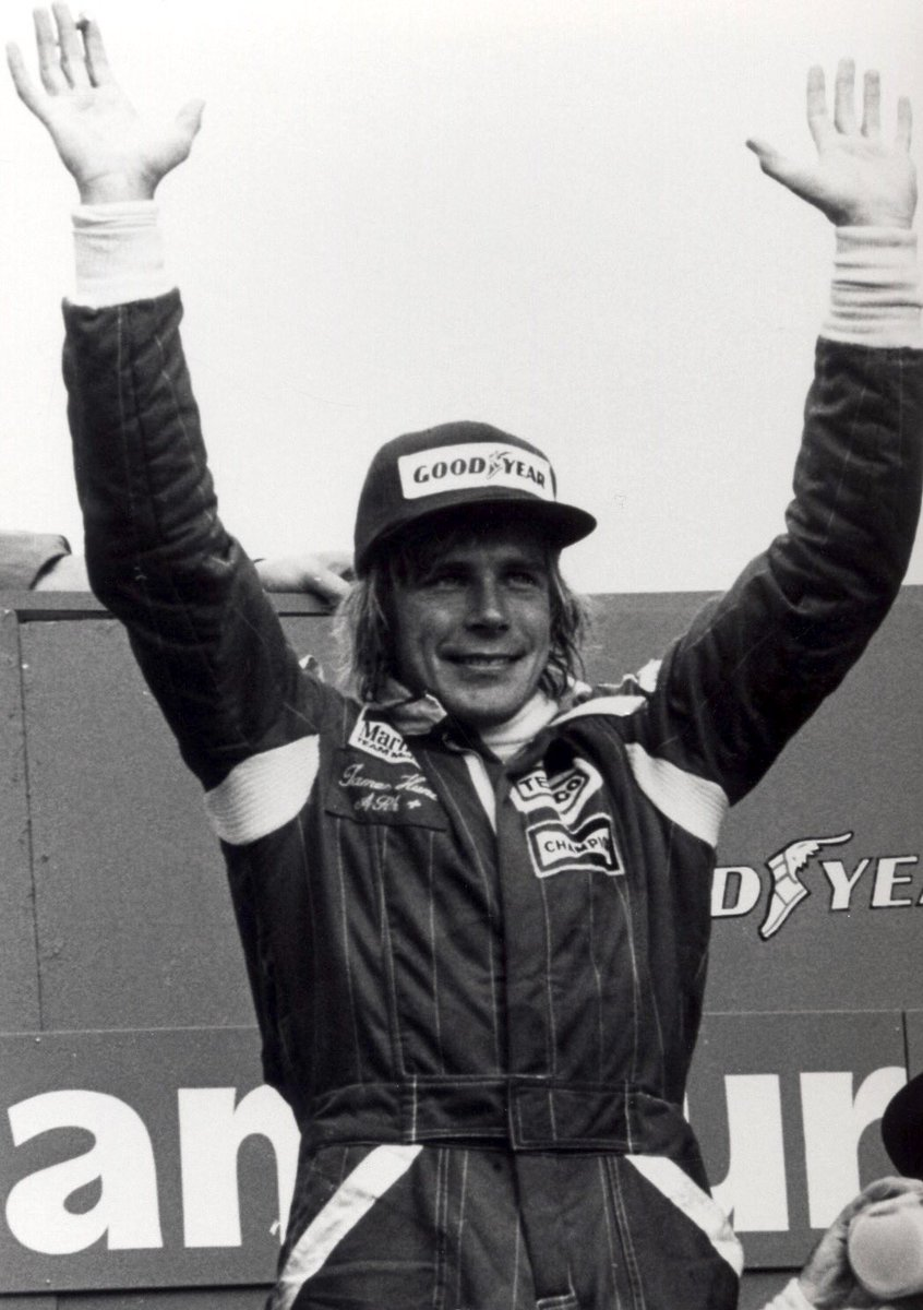 When James Hunt won the Japanese Grand Prix today in 1977 it was his 10th and final F1 race victory. His great rival Niki Lauda had the Drivers' Championship in the bag, and didn't even take part, leaving the way clear for Hunt to drive one of his best races ever. https://t.co/ce0dil94vN