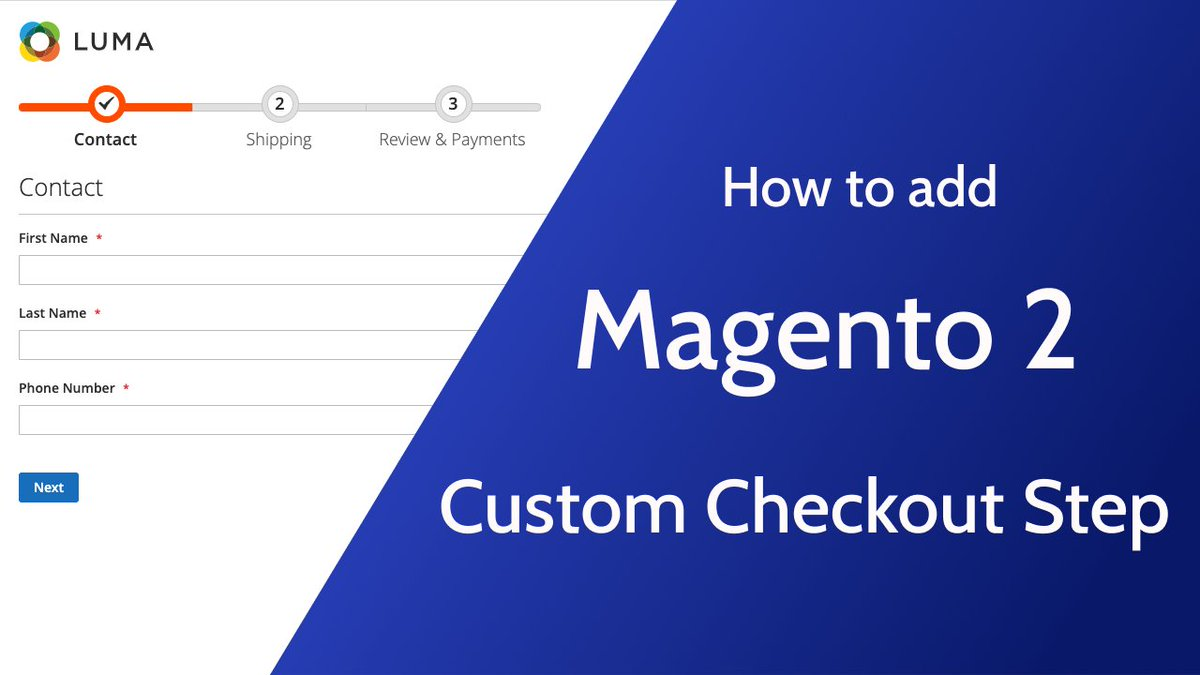 [New Video] Add Custom Checkout Step in Magento 2  https://t.co/SnpZRFRsvQ  #magento #checkout #javascript #php https://t.co/96hrSJmdFm