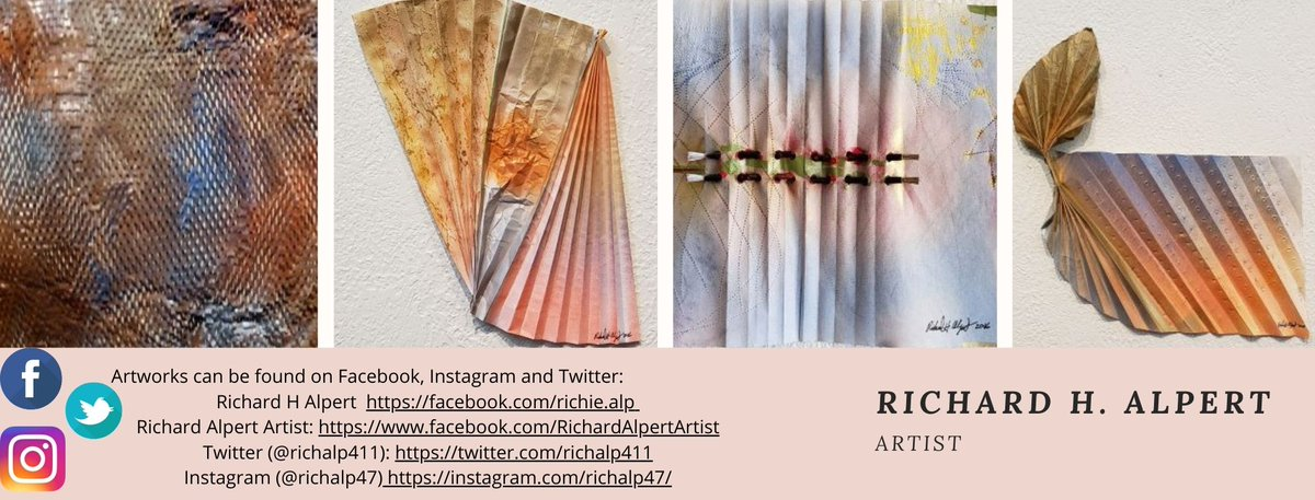 #CheckOut and #artshare #myartworks which can be found on social media:  Richard H Alpert  https://t.co/7B72wTc3UE  Richard Alpert Artist: https://t.co/4CMBOtDwMi Twitter:  https://t.co/qo7r66P1dJ Instagram: https://t.co/jOL0XqBPI3  #ThankYou for following me. #socbiz #biztalk https://t.co/HUnG7Le6nx