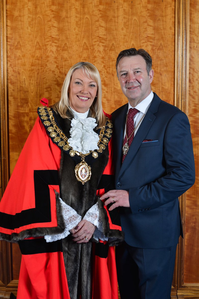 CONGRATS to new #Barnsley Mayor Coun Caroline Makinson and consort Barry, of #Royston, who are planning to attend events 'virtually' due to #COVID19 - @Mayor_Barnsley can be invited via email mayorsoffice@barnsley.gov.uk more at @BarnsleyCouncil barnsley.gov.uk/services/our-c…
