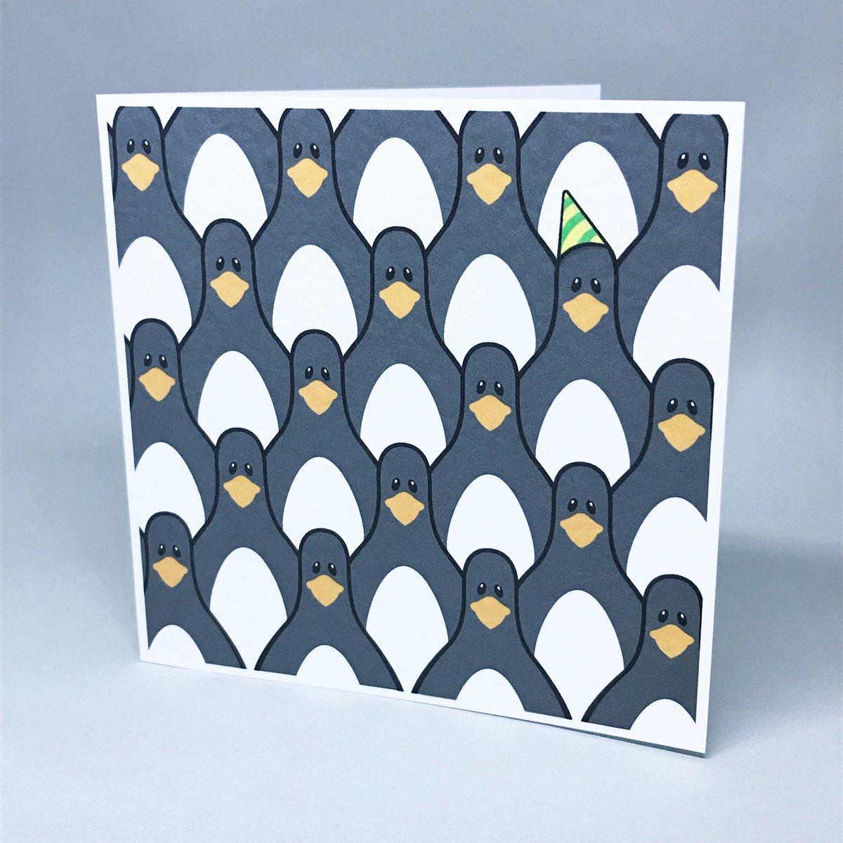 FRIDAY!!! Card available at https://t.co/drktLt4FeZ #friday #fridayfeeling #penguins #partyhat #huddle #card #greetingcards #art #drawing #illustration #artwork #vector #vectorart #etsy #etsyseller #etsyshop #etsysheff #shopsmall #blueprintbear https://t.co/MTDCMMFxD0