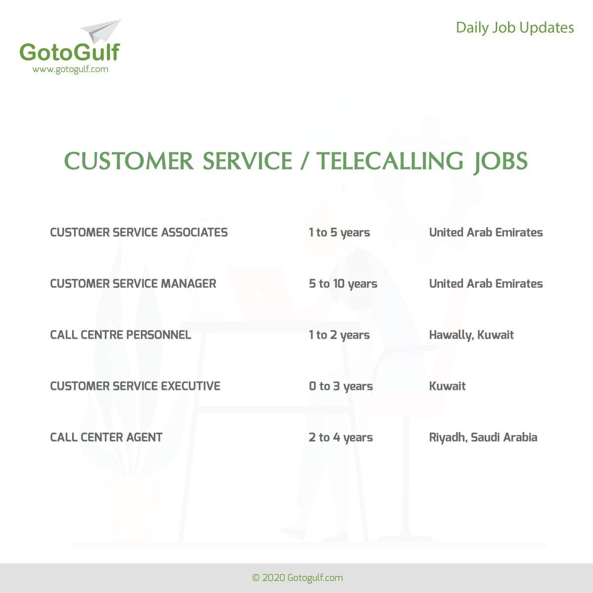 Click on the below link to apply for the job vacancies, https://t.co/fkKxdCt7mB  #gotogulf #jobs #middleeast #jobseeker #recruitment #telecalling #customer #service #call #center #agent #executive #personnel #manager #associate #saudiarabia #kuwait #uae #unitedarabemirates https://t.co/mcZGuHtWaP