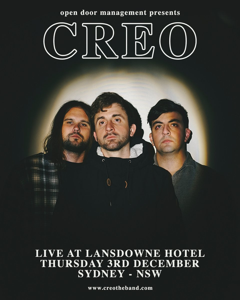 CONCERT 📰  CREO will be returning to live action with two recently announced shows.      1. FREE Show on Thur Nov 12 as part of Great Southern Nights which is 1,000 COVID-Safe gigs across NSW to kick start live music.    2.  Live at the Lansdowne Hotel on Dec 3. https://t.co/l9f75dspc9