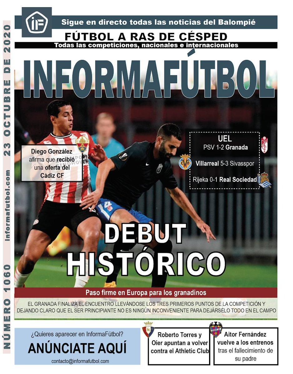 #PortadaIF ¡Hola! Esta es nuestra portada del Viernes 23 de octubre de 2020 #LaLiga https://t.co/sW0jYrARlB
