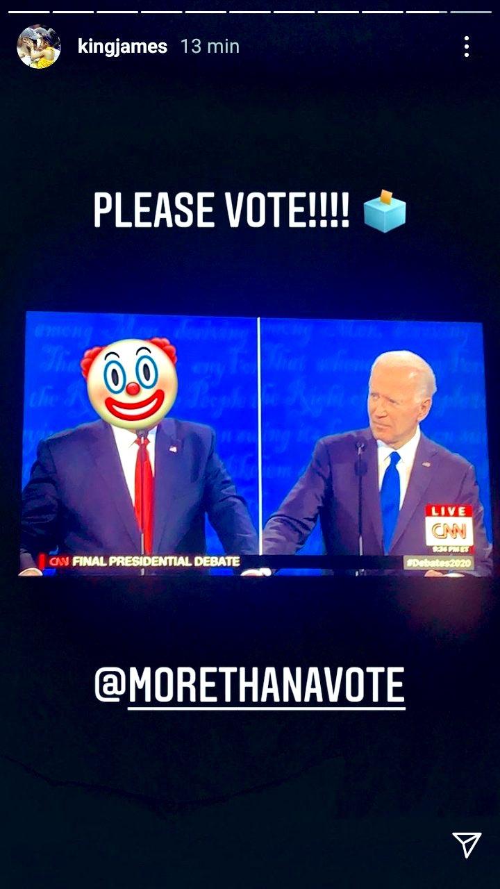 LeBron James definisce Donald Trump un clown nel dibattito presidenziale