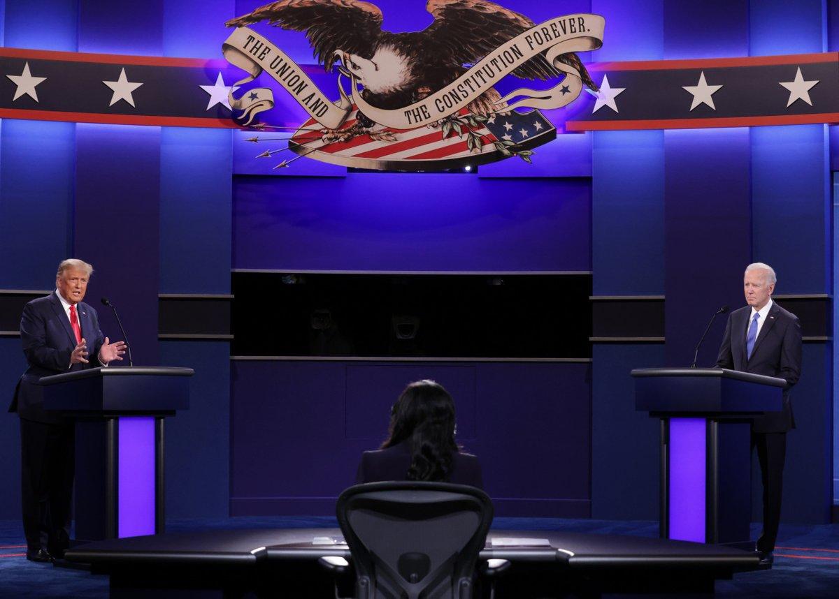 Дебаты Трампа и Байдена.