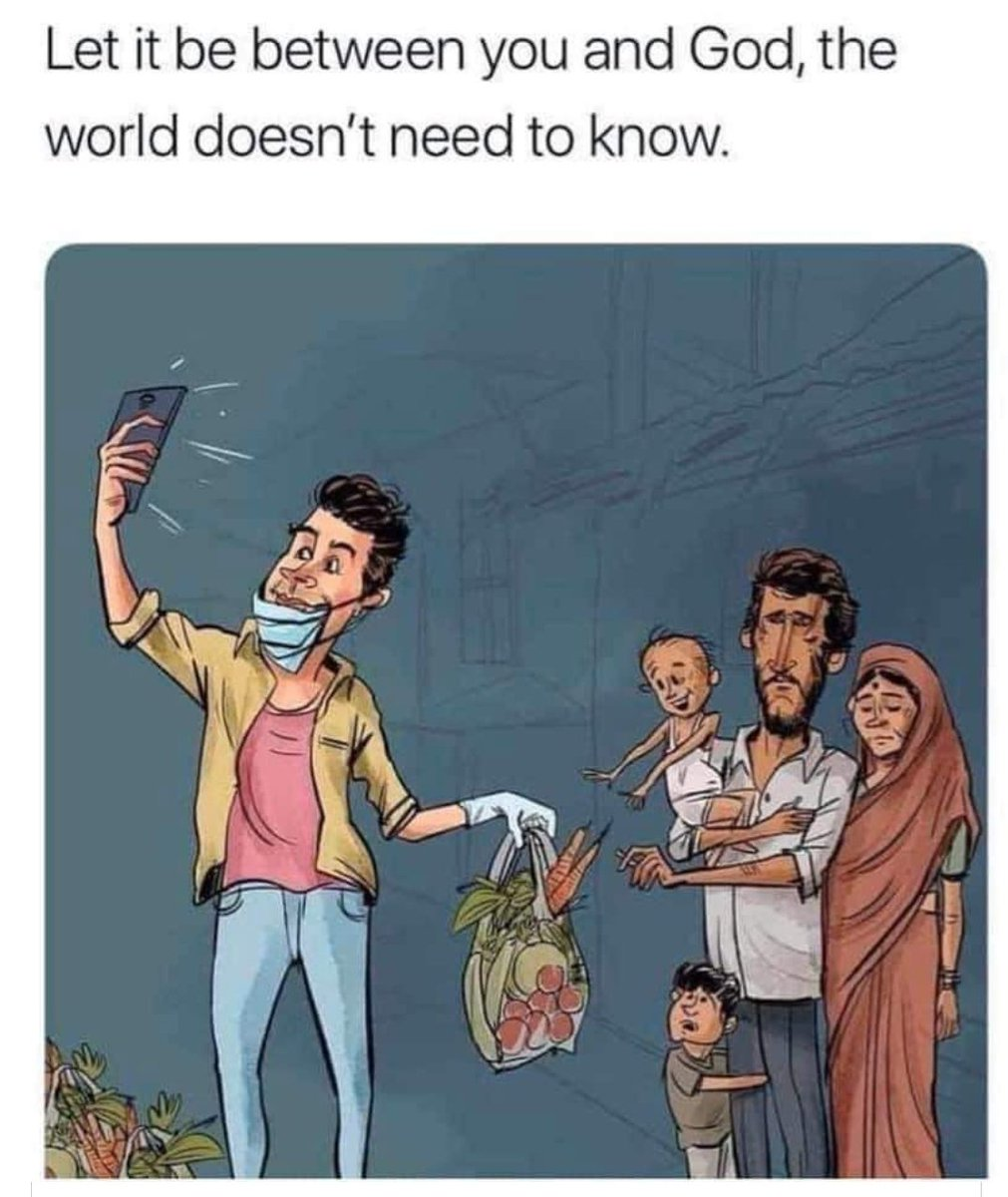 When doing charity or helping someone in need, keep your phones away. Let it be between you and God, the world doesn't need to know. Jumma Mubarak 💕💕 #inspiration #quotes #quoteoftheday #InspirationalQuotes https://t.co/O95TTdC0v9