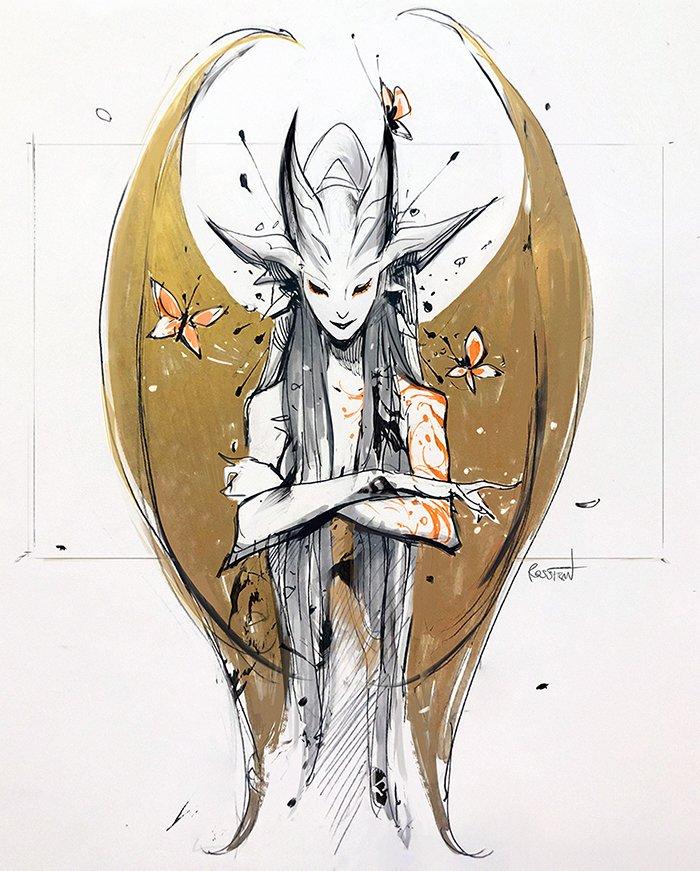 #Inktober: Dryad by rossdraws - https://t.co/HgUFoW6Oqc via @insprade #inspirationde #Art #Creative #Illustration #Ink #Sketch https://t.co/6id9YG2EfK