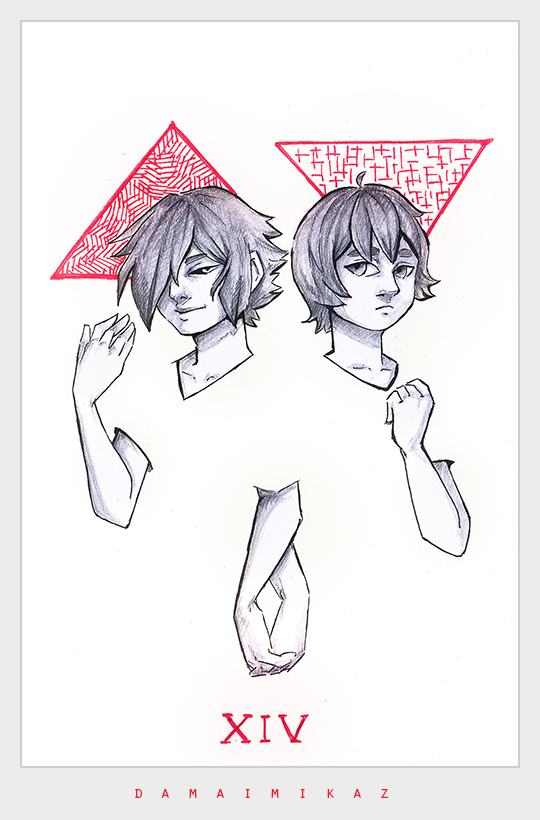 [#Inktober] The #Twins by DamaiMikaz - https://t.co/1Zy4Ffu06z via @insprade #inspirationde #Anime #Illustration #Red #Triangle https://t.co/tljL4mwfVE