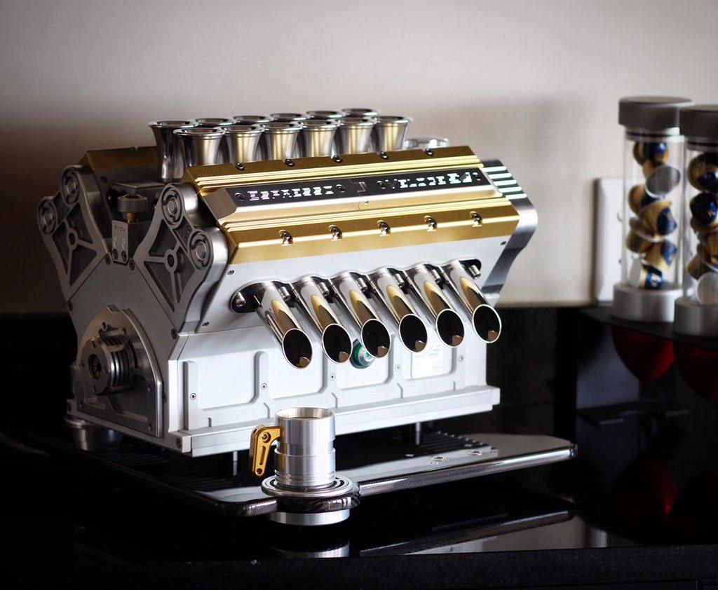 Coffee, anyone? 😉   The Espresso Veloce Serie Titanio coffee machine is the perfect addition to any luxury home.   #superveloce #espressoveloce #serietitanio #v12 #v10 #v8 #masterpiece #art #coffee #coffeeaddict #functionalart #designer #highend #luxury #carbonfiber #aerospace https://t.co/DWGOel2Mda
