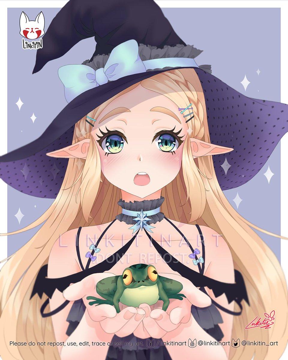 𝐅𝐫𝐨𝐠 𝐨𝐫 𝐭𝐫𝐞𝐚𝐭🐸✨  #Halloween #AgeofCalamity #HyruleWarriors #Breathofthewild #Zelda #Fanart #Nintendo #TLOZ https://t.co/xKBdXbPBuf