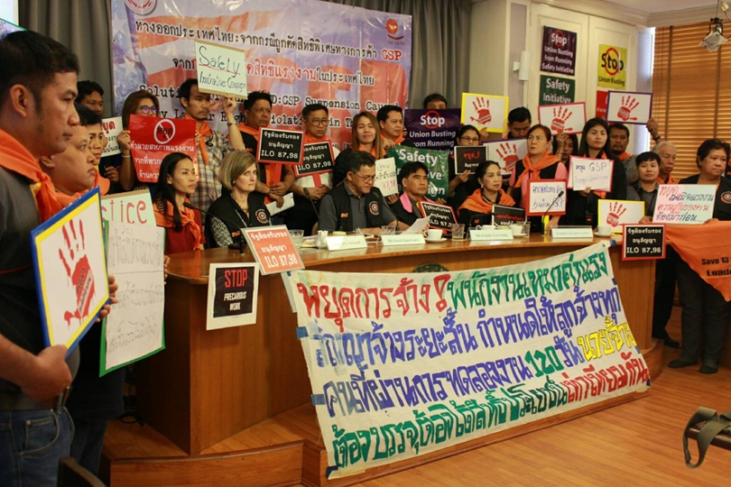 Outrageous & unacceptable persecution of State Railway of #Thailand union leaders for work stoppage because of unsafe equipment. Imprisonment for 3 years shows #Thai govt, NACC & judicial complicity to crush workers rights. ituc-csi.org/thailand-impri…