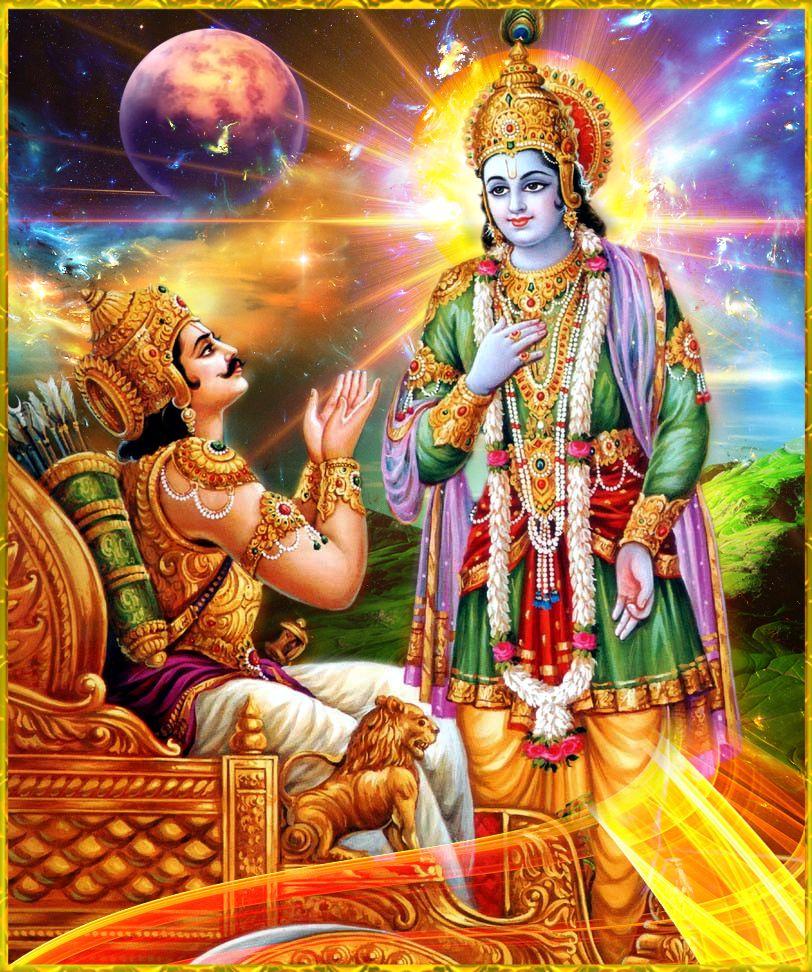 यदा यदा हि धर्मस्य ग्लानिर्भवति भारत | अभ्युत्थानमधर्मस्य तदात्मानं सृजाम्यहम् yadā yadā hi dharmasya glānir bhavati bhārata abhyutthānam adharmasya tadātmānaṁ sṛijāmyaham  (BG. 4.7) #HareKrishna #ShriKrishna #FridayMotivation #FridayThoughts https://t.co/Vm3EsGho3f