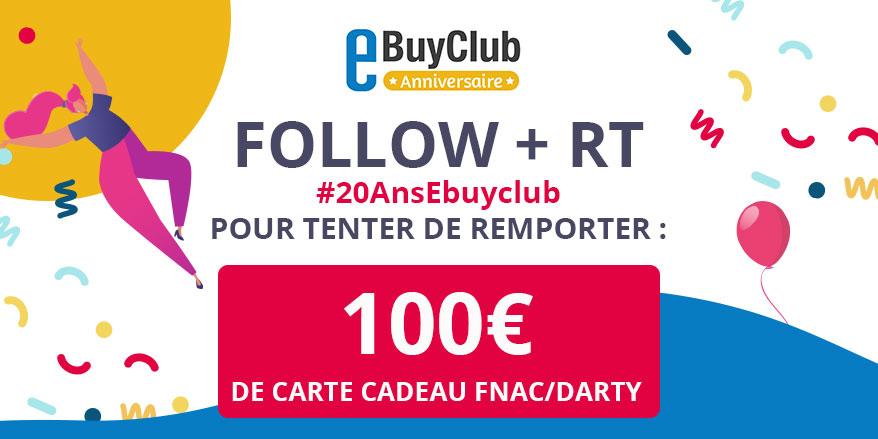Ebuyclub On Twitter Concours Le Mois Anniversaire N Est Pas Termine Donc On Continue De Vous Gater On Vous Offre Une Carte Cadeau Fnac Darty D Une Valeur De 100