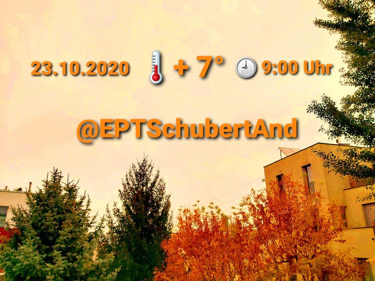 📣#EPTSchubertAnd📣 Freitag, 23.10.2020  #EPTWeather➡️heute in #vienna #Wien #österreich Vormittag🌫 Nachmittag🌥 Abend/Nacht☁️🌧 Bei schwachen ↘️➡️↗️⬆️ - Wind🌬 🕘 Vorm:🌡+7°/Tag:🌡+12° #EPTforFuture #EPTforAutark #BelieveInYou #LocalGuide https://t.co/CHTEmJcEcu https://t.co/Opks4DXrUk