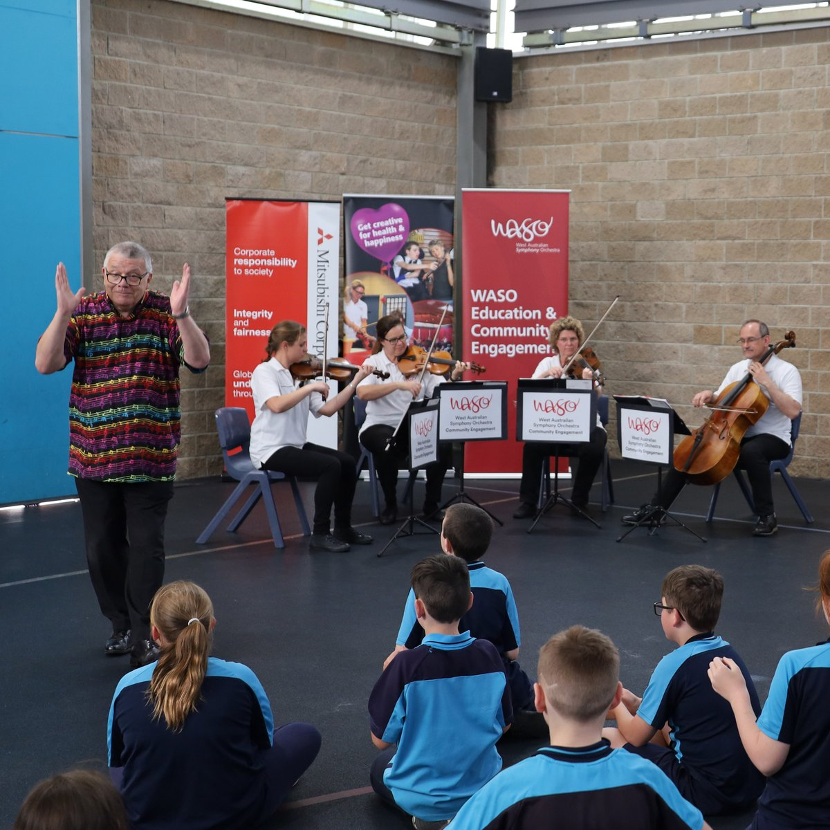 It's been such a joy visiting students at Roseworth Education Support Centre, South Ballajura Education Support Centre, Kenwick School and Castlereagh School as part of our Harmony Music program.  For more info on WASO's Community Outreach programs >