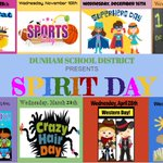 Image for the Tweet beginning: 2020-2021 Spirit Days!!!