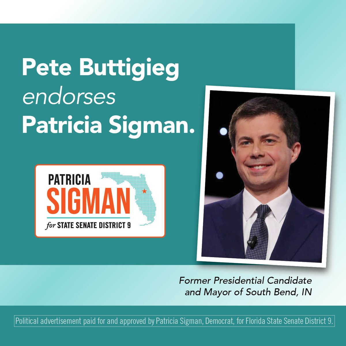 Mayor @PeteButtigieg knows that to #WinTheEra, we must all come together to solve the difficult issues facing our nation. I'm thankful for his leadership & proud to have his support as we #UniteforChange in #SD9 to create a brighter future for all Floridians! #FlaPol