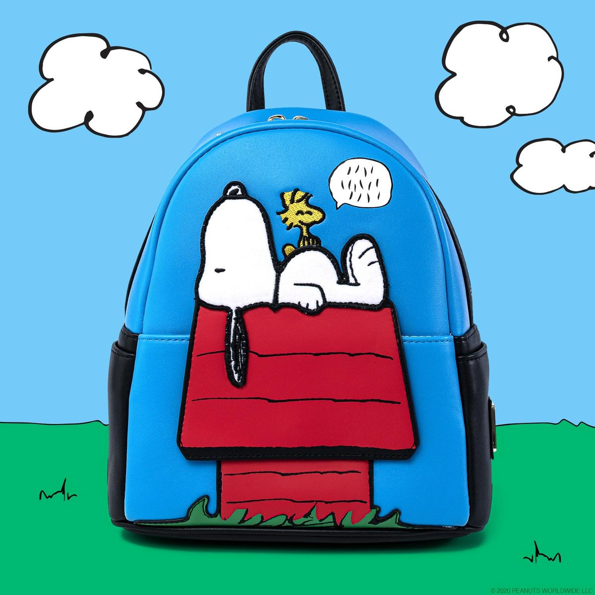 AAUGH! Be prepared to be obsessed with our Peanuts collection! The very lovable Snoopy and Woodstock are featured on a mini backpack and good ol' Charlie Brown is on a crossbody bag with a coordinating wallet!! Now available on bit.ly/33Z13IJ! 💛🎹🖤 #Loungefly #Peanuts