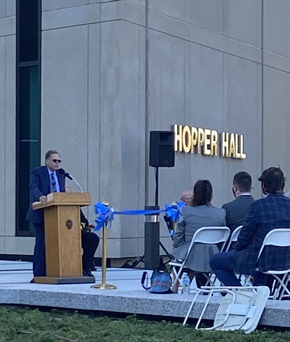 Today, I had the honor of speaking at the Ribbon Cutting Ceremony for Hopper Hall, the @NavalAcademys newest addition that will ensure future Sailors are prepared to defend our nation in the cybersecurity domain. #ExScientiaTridens