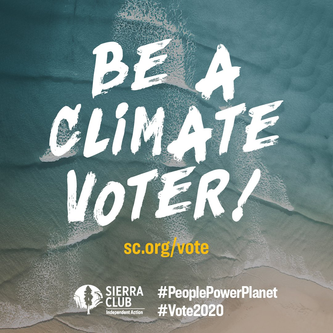 So much has come into focus about what's at stake in the most consequential election of our lifetimes: the Supreme Court, our democracy, and whether or not we'll be able to act on climate before it's too late.    #PeoplePlanetPower #vote2020