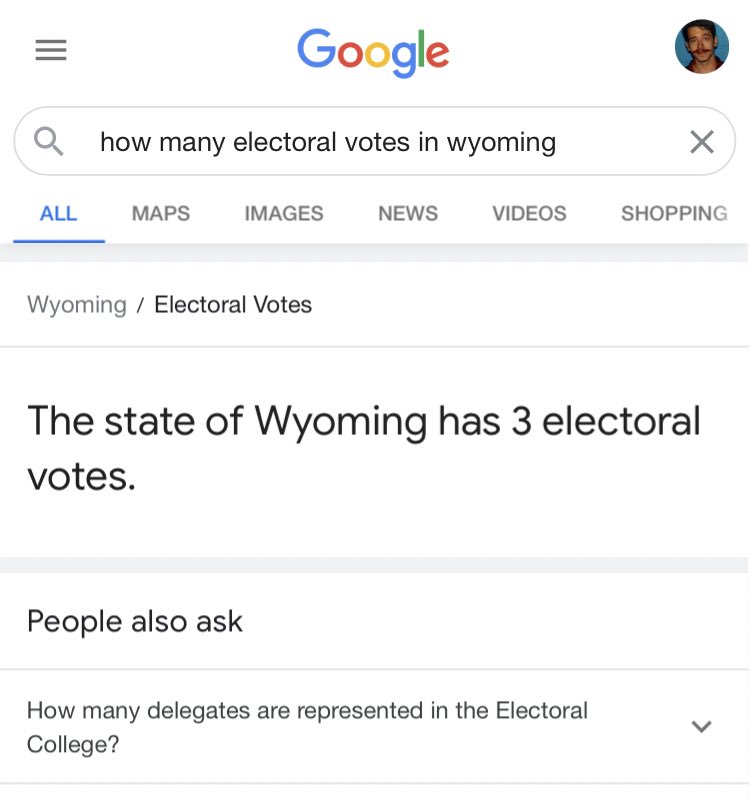 Fun fact: The state of Wyoming has more electoral votes than it has escalators.