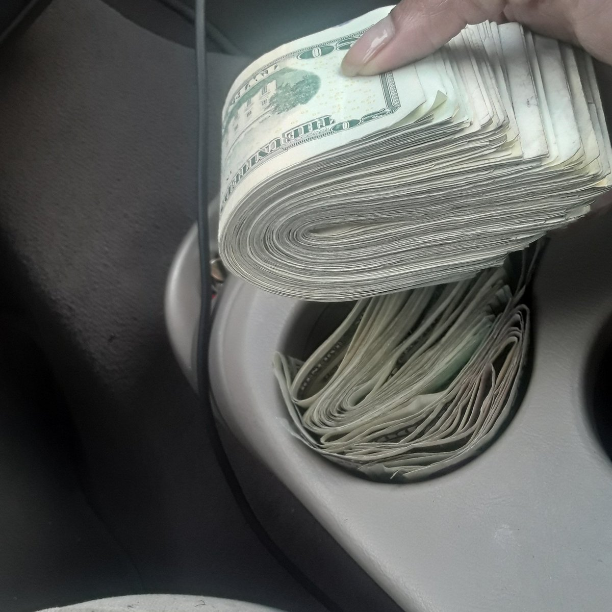 This stack was very hard to fold i was collecting my money richforlife