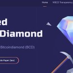 Image for the Tweet beginning: Wrapped BitcoinDiamond (WBCD) official website