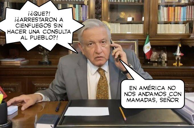 @concursomemes uno recién salido para el concurso de memes. Ojalá el presidente López aprenda que la justicia se imparte sin consulta #SalvadorCienfuegos #Concursomemes
