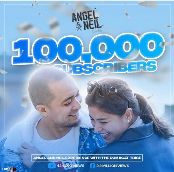 #Happy100kSubscriber #TheAngelandNeilChannel @143redangel @neil_arce  Congrats NeiGel fans We made it!❤👏