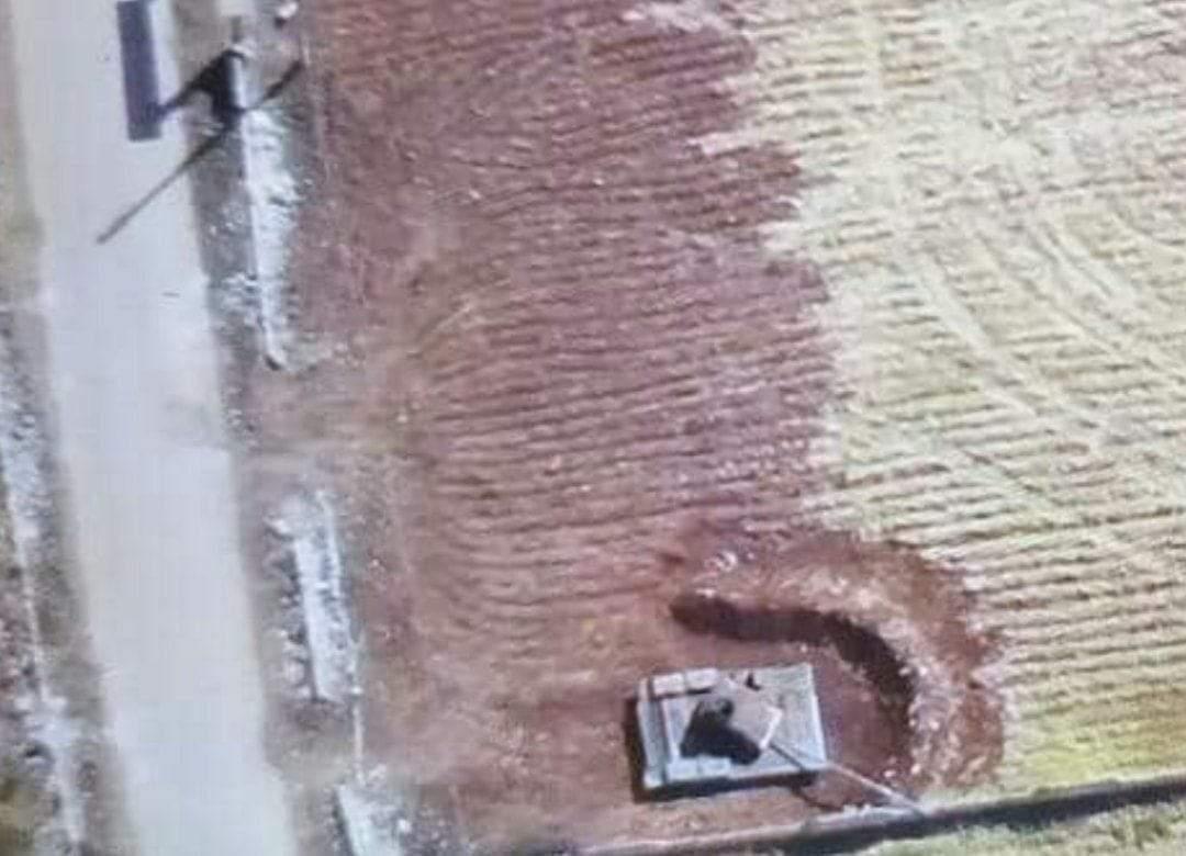 A fake Russian tank in the southern countryside of #Idlib #Syria #Bayraktar #TSK