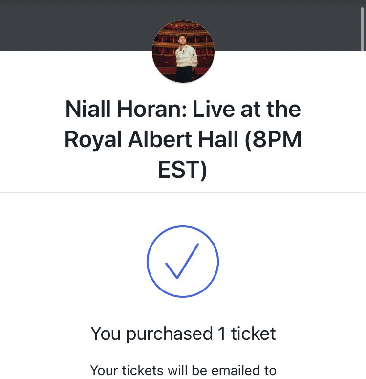 @NiallOfficial @RoyalAlbertHall already got my ticket, glad to be supporting, gonna be a good time :) <3