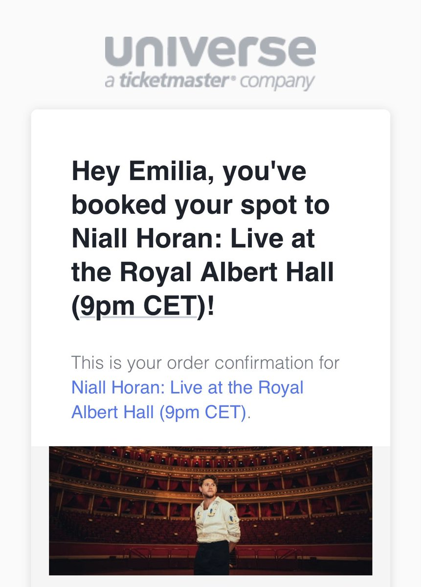 @NiallOfficial @RoyalAlbertHall i already got my ticket. so exited and can't wait!