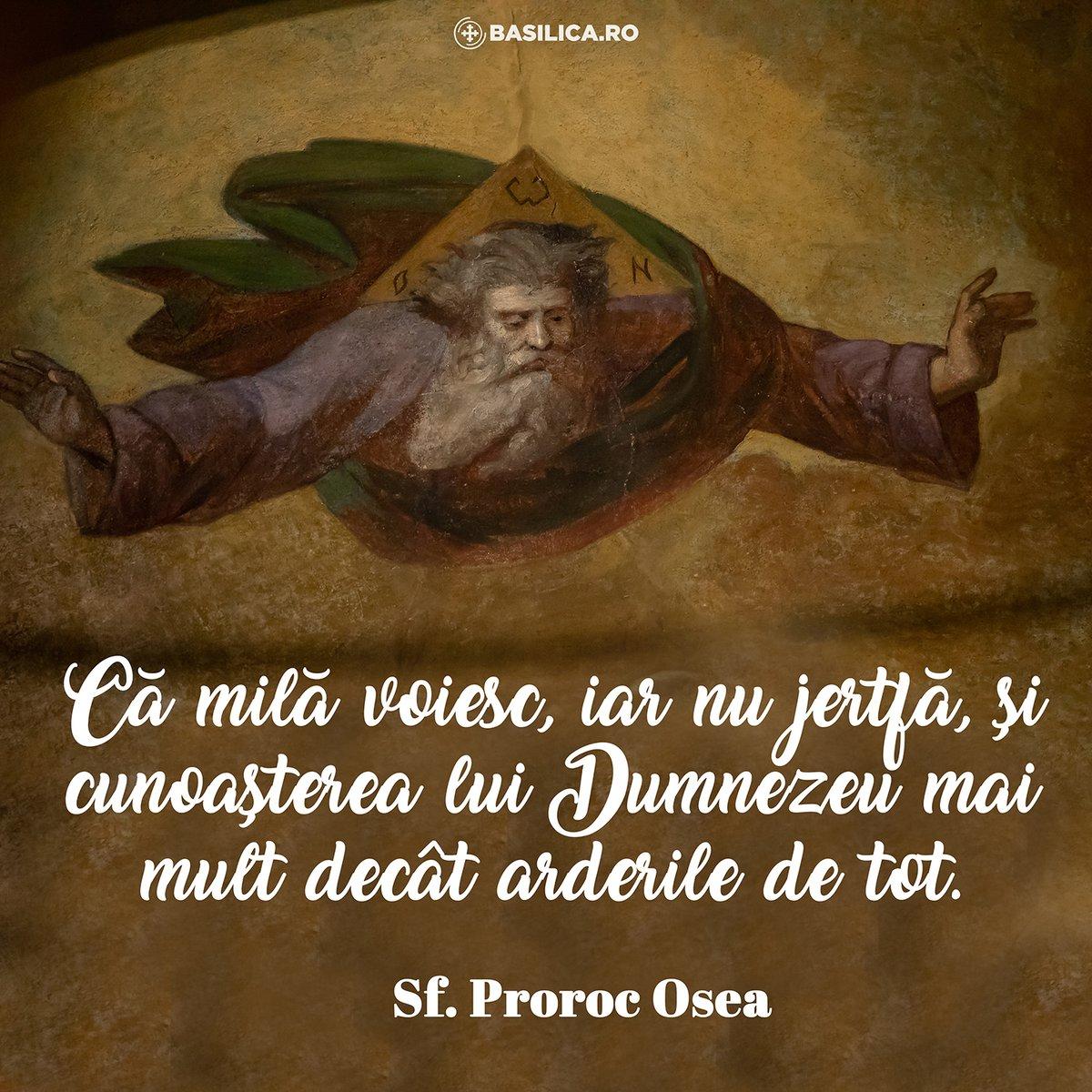 Sfântul Proroc Osea este prăznuit în data de 17 octombrie.  #Biblia #SaturdayThoughts https://t.co/SQWtFYUEDk