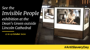 Would you recognise a victim of modern slavery? See the powerful Invisible People exhibition in the Dean's Green outside @LincsCathedral all this week https://t.co/AhTa46ow1i #AntiSlaveryDay @P3SOTLincs https://t.co/ntSbwlBUN0